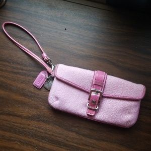 Coach Small Pink Wristlet